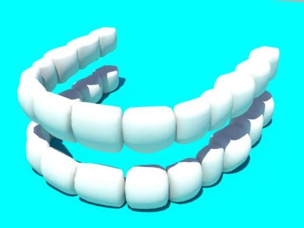 free 3ds model teeth