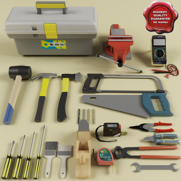 tools vise wire 3d 3ds
