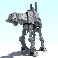 3ds max steampunk at-at