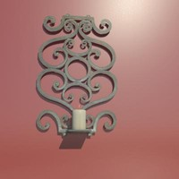 wrought iron wall sconce 3d max