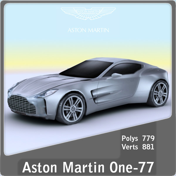 2011 astonmartin one-77 3ds
