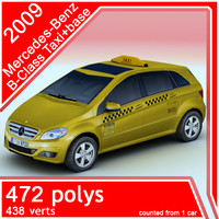 3d model 2009 mercedes-benz taxi car