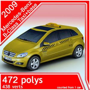 3d model 2009 mercedes-benz taxi car