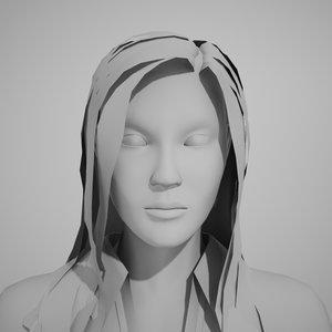 3d rigged female model