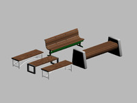 free benches 3d model