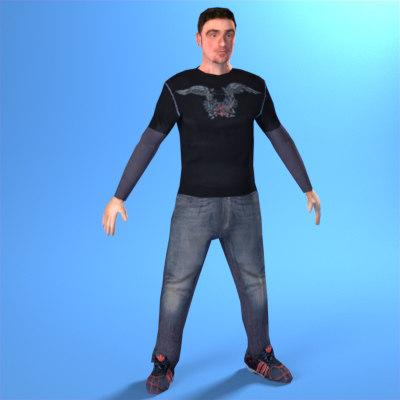 man guy 3d model