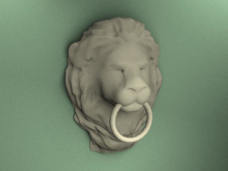 lion head decoration 3d max