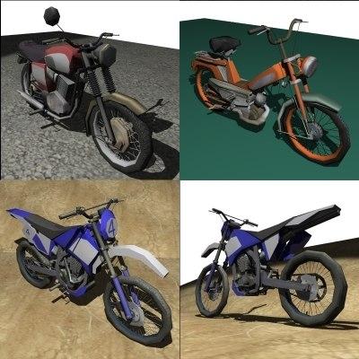 3d model motorbike pack