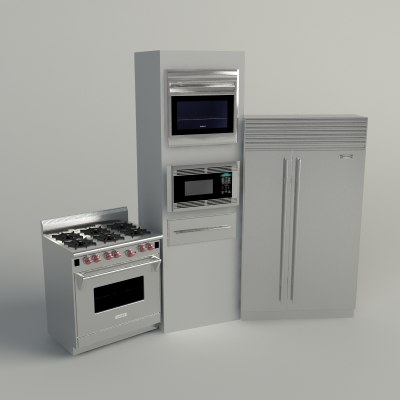 3d model sub-zero wolf appliance -