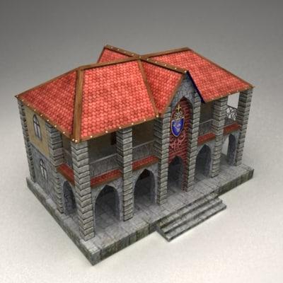 3d model fantasy bank