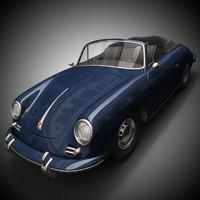 3d old cabriolet 356b