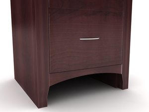 3d cappuccino filing cabinet furniture model