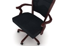 3d model of cherry hill office chair