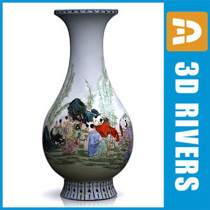 chinese vase 3d 3ds