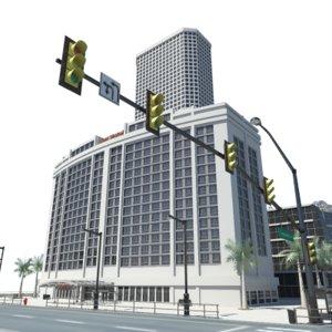 city block buildings 3ds