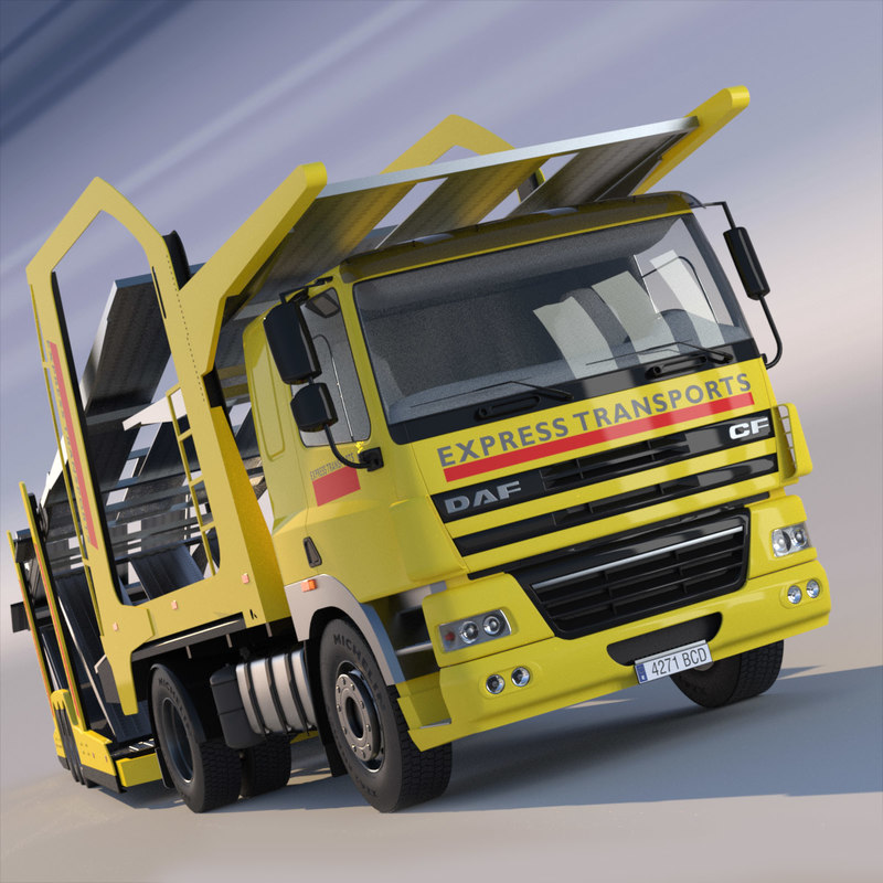 3d model daf car transporter