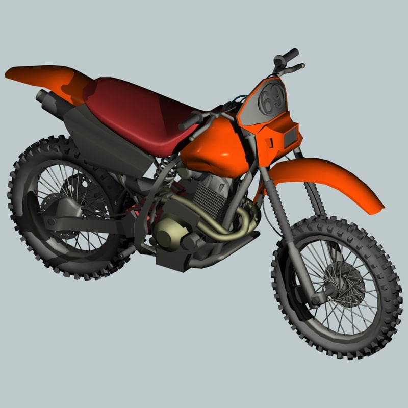 3d trail bike