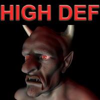 realistic devil 3d model