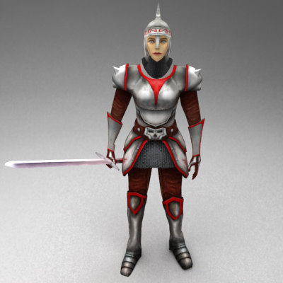 medieval female warrior 3ds