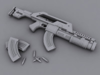 3d model assualt rifle