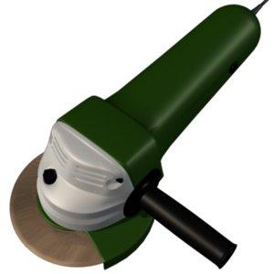 3d angle grinder model