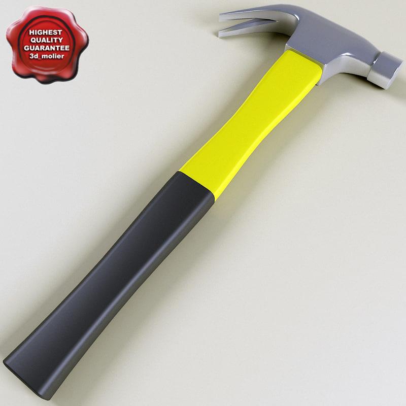 3d hammer modelled