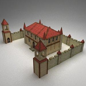 3d model fantasy manor