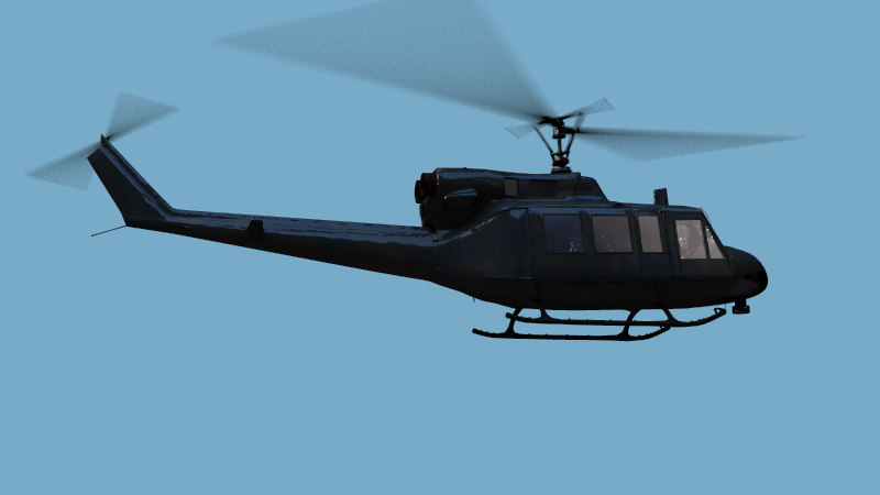 huey helicopter heli 3d model
