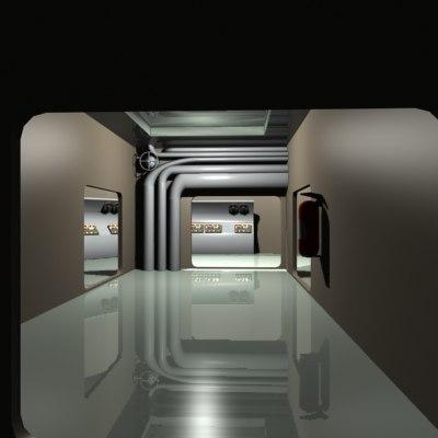 interior complex 3d model