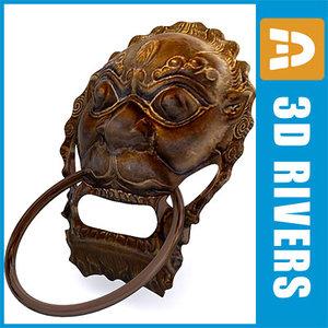 lion head door handle 3ds
