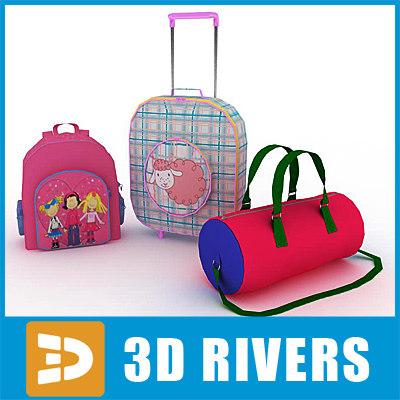 3d kids bags