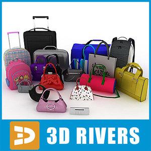 3ds max bags fashion retail