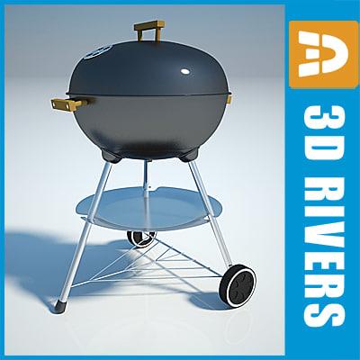 3d barbecue grill coals charcoal