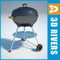 3d barbecue grill coals charcoal