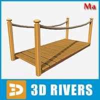tropical wooden bridge rope ma