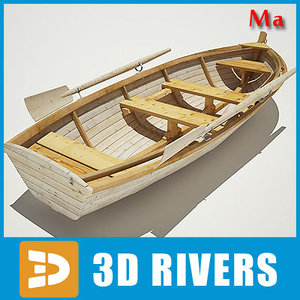 village boat 01 3d model