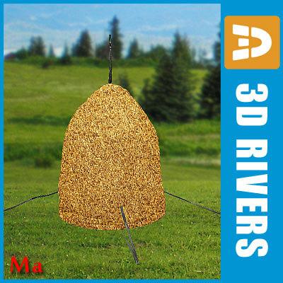 3d model stack hay 01