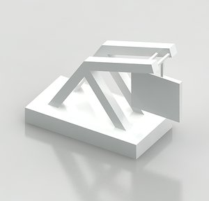 monument sign style 10 3d model