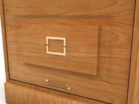3ds max nostalgia oak 2 drawer