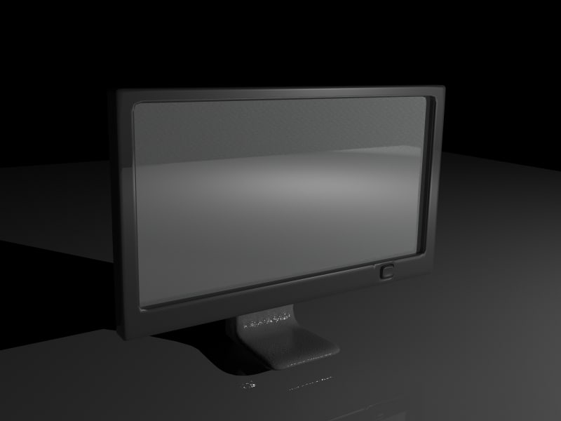 pc screen 3d model