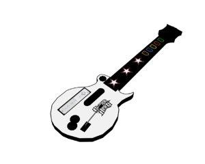 free wii guitar controller 3d model