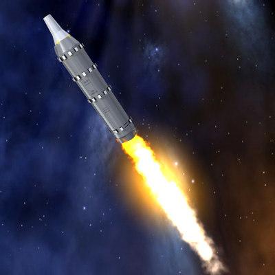 intercontinental ballistic missile ss-n-7 3d max