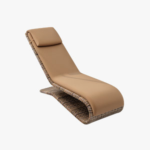 3ds max rattan deckchair