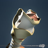 medically human larynx trachea 3d model