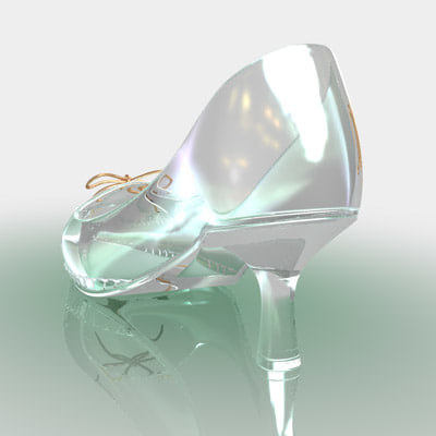 crystal shoe cinderella 3d model