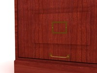 Santa Fe drawer file cabinet - High Quality Furniture 3d model