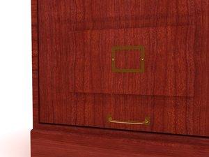 santa fe drawer file cabinet 3d max