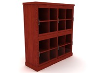 Santa Fe Stacked Bookcase Set - High Quality Furniture 3d model