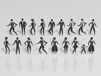 3d stylized people set