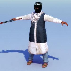 3ds max rigged terrorist